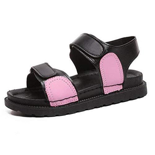 Women Sandals Été Ouvert Sandales Femme Été Chaussures à Semelle Épaisse Chaussures Sauvages Occasionnels Simples Chaussures Marée, Pink, 35