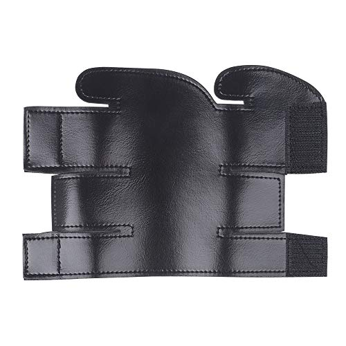 Muslady Trumpet Valve Guard Trompetenventilschutz Schutzhülle aus PU-Leder für Trompete Schwarz