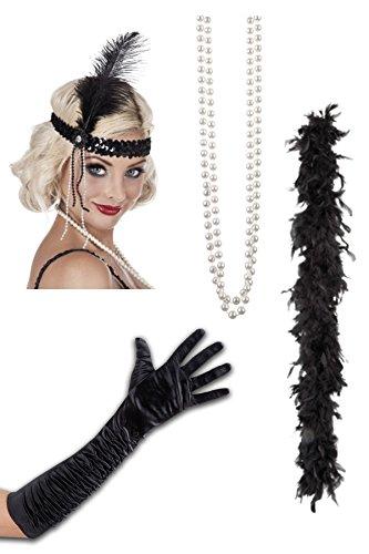 20er 30er Jahre Charleston Outfit Kostüm Zubehör