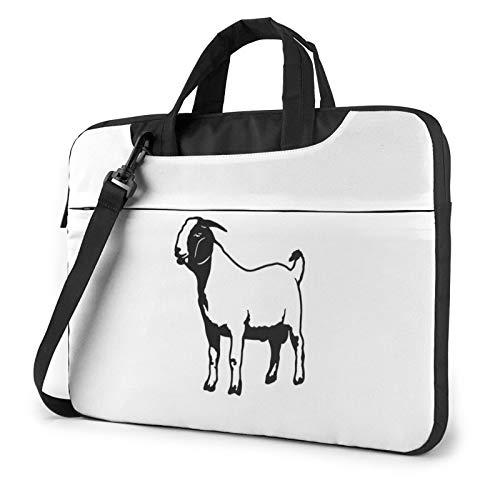 HOODSWOP Boer Goat Laptop Sleeve 13 inch-15.6 inch Stylish Cute Neoprene Notebook Handbag