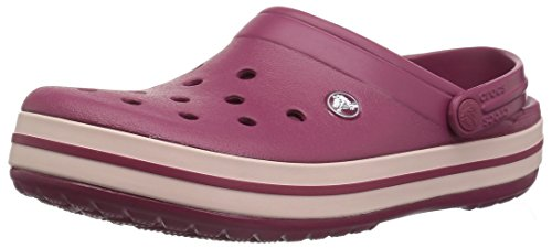 Crocs Crocband U, Zoccoli Unisex-Adulto, Rosso (Pomegranate/Rose Dust 6or), 38 EU
