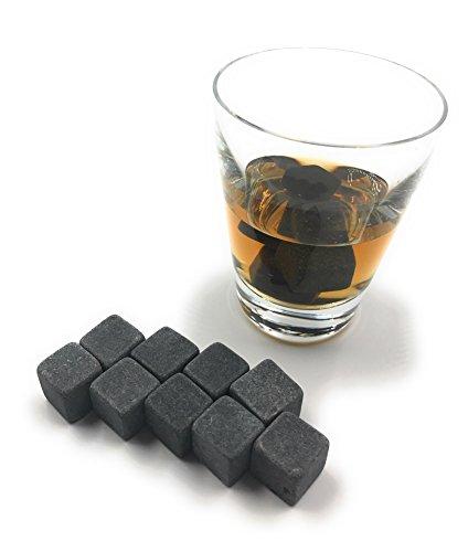 ocona Whisky Steine, wiederverwendbare Eiswürfel mit Eiszange, Speckstein (12 Stück) - 6
