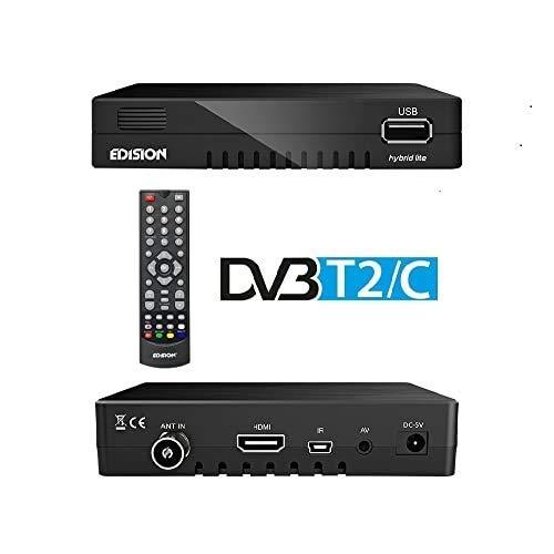 Edision Progressiv Hybrid Lite Kombo-Receiver (DVB-T/T2/C, HDMI, Front-USB, Kartenleser) Schwarz