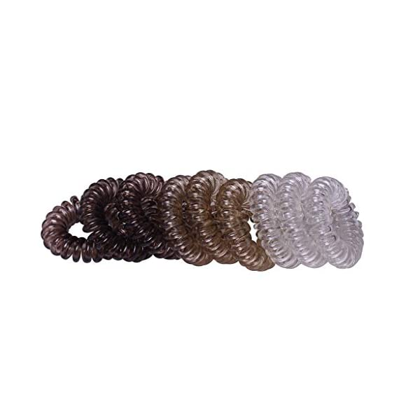 Beauty Shopping 9Pcs Traceless Spiral Hair Ties with Strong Grip, Coil Hair Ties,