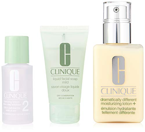 Clinique Great Skin Start Here Set (Liquid Facial Sopa Mild,30ml+Clarifying Lotion 2,30ml+Dramatically Different Moisturizing Lotion,125ml)