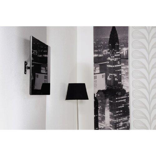 Thomson TV Wandhalterung für 25 bis 117 cm (10 - 46 Zoll) Fernseher (neigbar, schwenkbar, bis 20 kg, VESA bis 200x200) schwarz