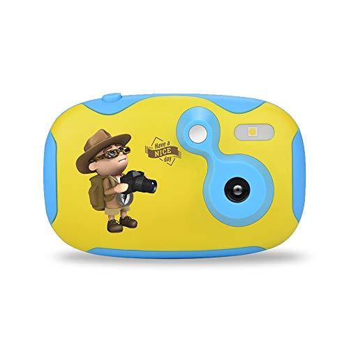 SYXX Cámara niños, mini DIY juguetes de simulación for cámaras digitales SLR de vacaciones for niños y niñas, recargable HD videocámara for niños de 3-10 años de edad, micrófono incorporado cuerda de