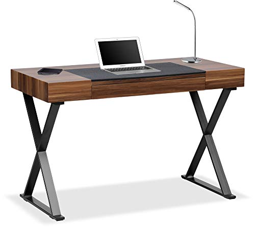 Centurion Supports ADONIS Walnut Ergonomic Home Office Desk with Built-In Wireless Qi Charging