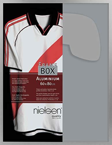 Nielsen Aluminium Bilderrahmen Framebox, II 60x80 cm, Silber Matt, Acrylscheibe