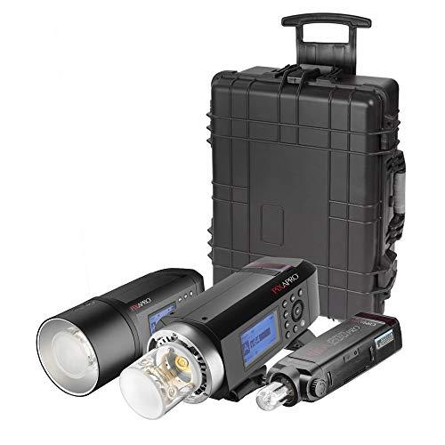Kit portátil de la serie PRO con CITI600 PRO, CITI400 PRO y PIKA200 PRO alimentado por batería Flash estroboscópico iluminación de fotografía unidades Godox AD600 AD400 AD200 Evento de ubicación