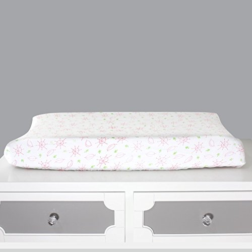 Magnolia Organics Changing Pad Cover - Standard, Seeing Spots Pink