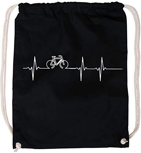 AngryShirts Frequenz Bike Baumwoll Stoffbeutel
