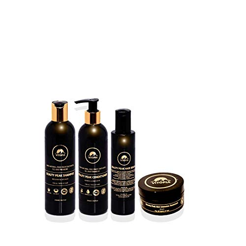 Beauty Peak Hair Repair & Protect System - Product Made UK - Steps 4 Included (Intensive Treatment & Serum & Shampoo & Conditioner)