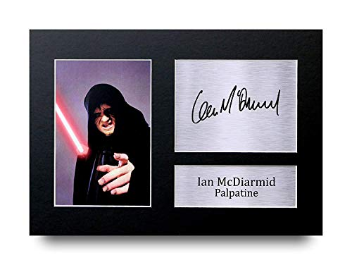 HWC Trading Ian Mcdiarmid A4 Sin Marco Regalo De Visualización De Fotos De Impresión De Imagen Impresa Autógrafo Firmado por Star Wars Palpatine Los Aficionados Al Cine