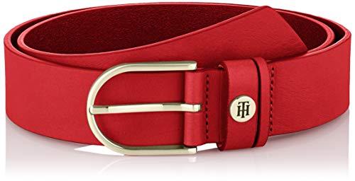 Tommy Hilfiger Damen Classic Belt 3.5 Gürtel, Rot (Barbados Cherry 0kp), Small (Herstellergröße: 85)
