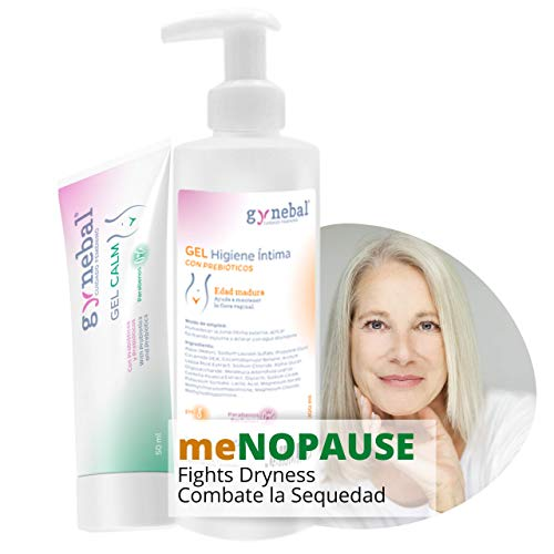 GYNEBAL PACK Intimate Care - Prebiotic Hygiene Gel 300 ml + Prebiotic Vaginal Lubricating Gel 50 ml - PH 8 Specific Menopause and Perimenopause - Helps to prevent infections and Respects Vaginal Flora