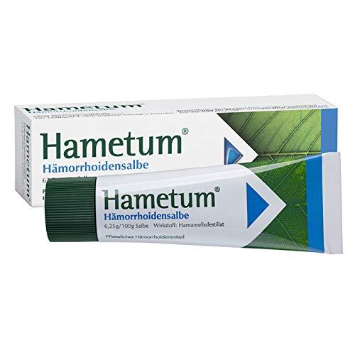 Hametum Hämorrhoidensalbe – Lindert die Beschwerden bei beginnenden Hämorrhoiden – Mit Applikator – 1 x 25g…