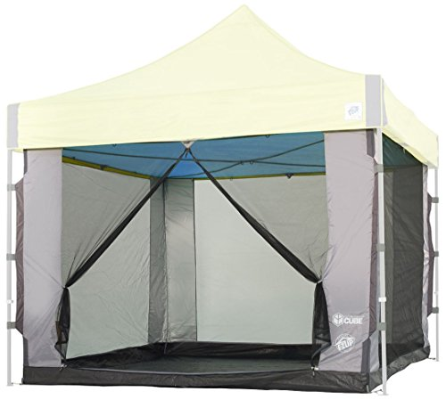 E-Z UP SC10SLGY Cube, Fits 10' x 10' Straight Leg Canopy Screen Room, 6 Person, Gray Mesh