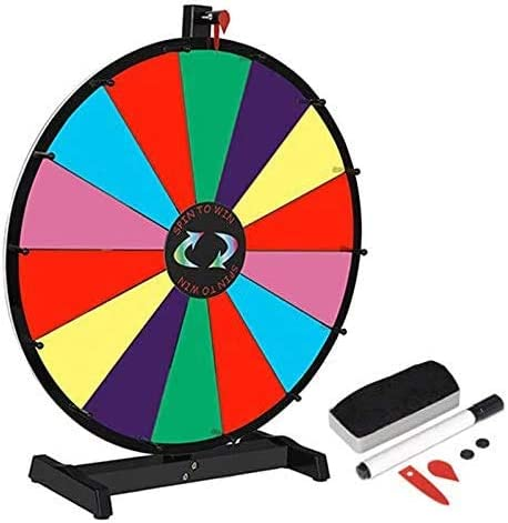 HomGarden Dedication 24inch Tabletop Color Spinning Slots Prize Ed safety 14 Wheel
