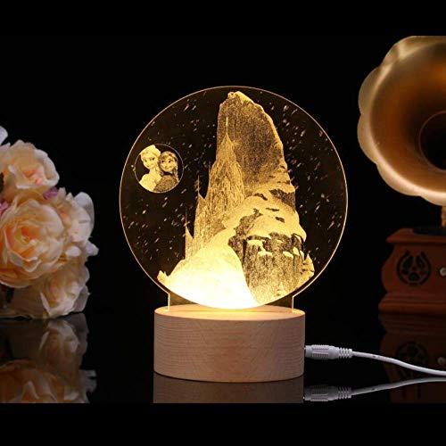 3D Nachtlicht Saturn LED Karussell Tischlampe 150 x 150 x 170 mm Gold