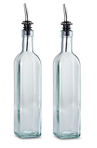 TableCraft 16 oz. Olive Oil Bottle with Pourer Made in USA (Set of 2) Brand New and Fast Shipping