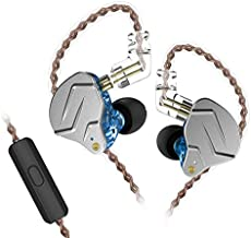 KZ ZSN Pro Dual Drivers 1BA 1DD in Ear Earphones HiFi Power Bass Earbuds Headphones High Clarity Sound Wired Earphones with Detachable Cable for Audiophile Musician