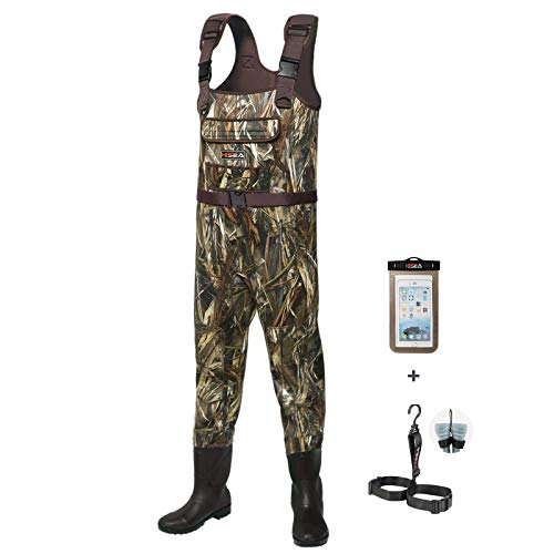 HISEA Chest Waders, Hunting Bootfoot Waders for Men...