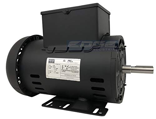 New 5HP Electric Motor for air Compressor 56 Frame 3440 RPM 5/8' Shaft 20.3 AMP 230 Volt