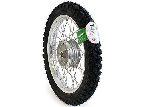 Komplettrad - VORNE - Winter- 1,5x16 Zoll Alufelge, poliert - Edelstahlspeichen, mit Heidenau-Reifen K42 montiert
