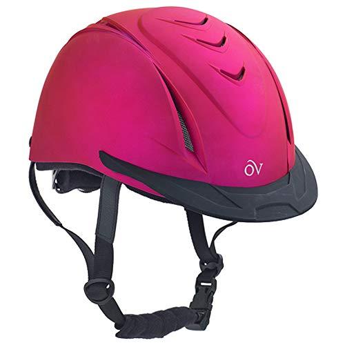 Ovation Kid's Metallic Schooler Riding Helmet, Fuchsia, X-Small/Small