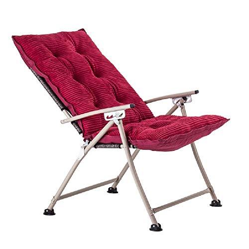 YLCJ Deck stoelen SunLoungers Casual bureaustoelen voor thuisgebruik Vouwbare modestoelen (Kleur: rood roze) Rode Wijn