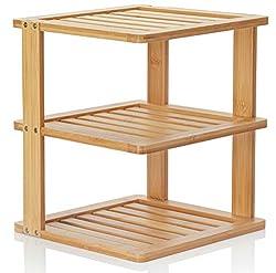 3 level wood organizing shelf