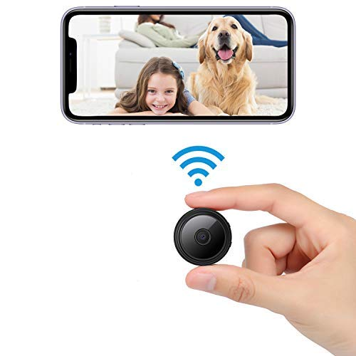 Spy Camera WiFi Wireless Hidden Camera Mini Home Security Camera Built-in Battery Nanny Cam, Night Vision Motion Detection Video Recording with Audio Remote View with App on Phone