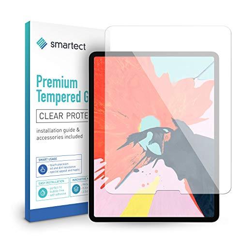 smartect Beschermglas compatibel met Apple iPad Pro 2018 (12.9) - screen protector met 9H hardheid - bubbelvrije beschermlaag - antivingerafdruk kogelvrije glasfolie