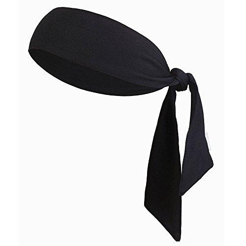 JJunLiM Sport-Stirnband für Frauen und Männer - Non-Slip-Stirnband Sweatband Head Krawatten Ideal zum Laufen, Ausarbeiten, Tennis, Karate, Volleyball & Performance Stretch & Moisture Wicking (Black)
