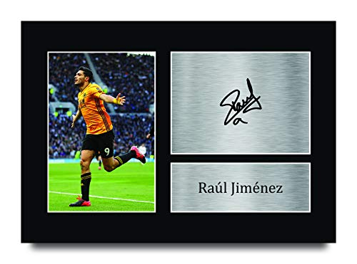 HWC Trading Raul Jimenez Wolves Wolverhampton Wanderers Gifts Printed Signed Autograph Picture for Fans and Supporters - A4