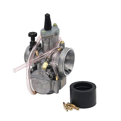 Scooters Carburador Carburador De Motocicleta ZS R&acing 2T 4T Universal para P&WK OKO 21 24 26 28 30 32 34mm con Chorro De Potencia para Moto De Carreras (Color : 21mm ZSDTRP)
