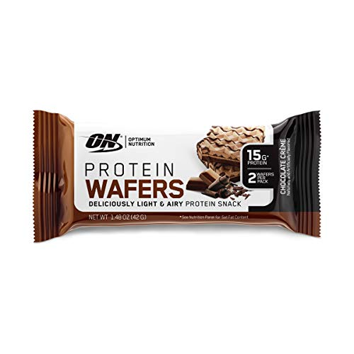 Optimum Nutrition New High Protein Wafer Bars (Low Sugar/Low Fat/Low Carb)-Dessert Flavor Chocolate, Chocolate
