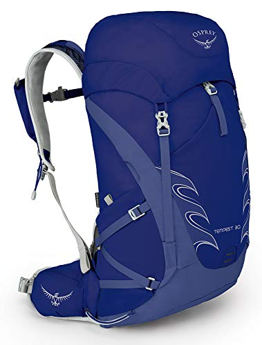 Osprey Packs Tempest 30 Women's Hiking Backpack, Iris Blue, Wxs/S, X-Small/Small