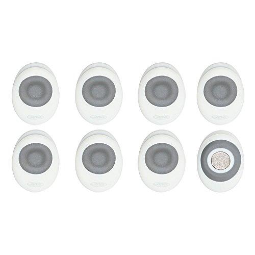 OXO Good Grips Magnetic Mini Clips 8 Pack  White/Gray