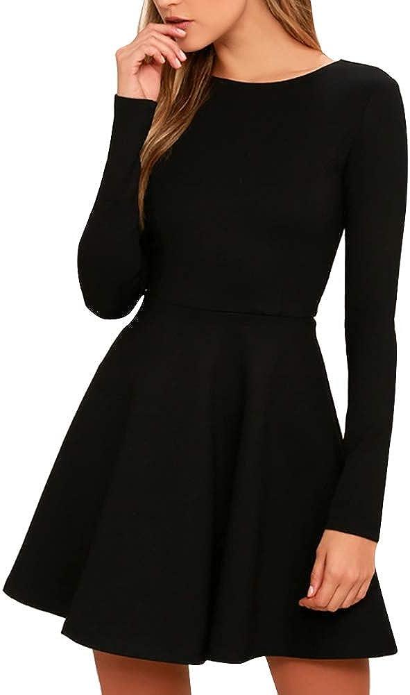 Black Long Sleeve Dresses for Women