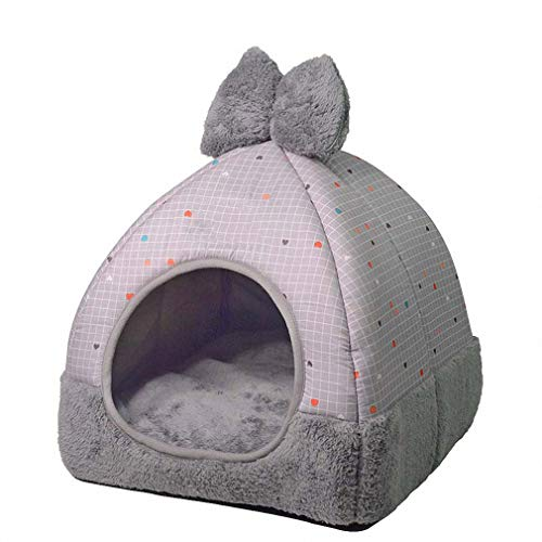 Hynsin Cartoon Cat Rest Mat Pad Small Medium Dogs Removable House Washable Cat Litter Nest Cattery Products Gray Grid M