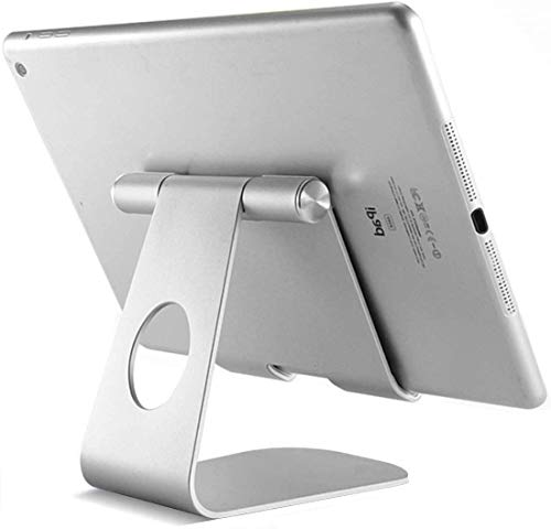 STUREC Supporto Tablet, 270° Supporto Regolabile, Universale Stand Dock per iPad PRO 9.7 10.2 10.5 12.9, iPad Mini 1 2 3 4, iPad Air 1 2 3 4, Samsung Tab, Altri Tablets (4-13 ) - Argento