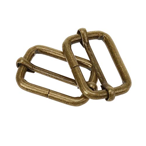 COTOWIN Adjustable Metal Slide Rectangle Buckle,Pack of 20,(1-inch)