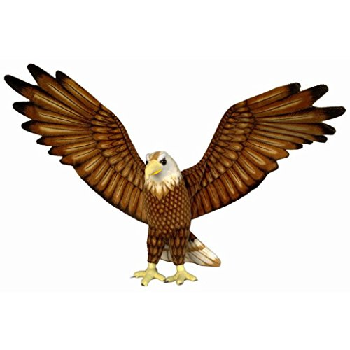 JESONN Realistic Giant Soft Plush Toys Stuffed Animals Eagle Brown for Kids' Gifts,37' or 94CM,1PC