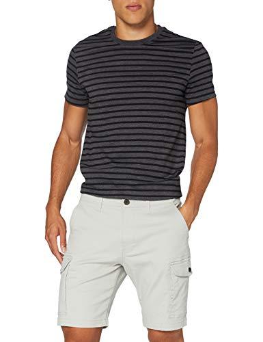 Marchio Amazon - MERAKI Cotton Slim Fit Cargo-Pantaloncini Uomo, Grigio (Dove Grey), 36, Label: 36