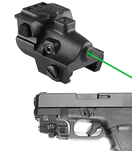 QR-Laser Green Laser Sight Ultra Compact Tactical Pistol Laser Sight Shockproof Rechargeable Green Dot Sight Used for Pistols and Rifles with Picatinny Rail