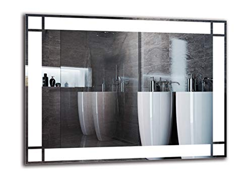 ARTTOR Badspiegel mit Beleuchtung. Bad Dekoration - Wandspiegel Groß und Spiegel Klein mit Led Licht. Unterschiedliche Lichtanordnung und Alle Dimensionen - M1ZP-60-80x60