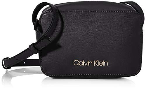Calvin Klein Damen Ck Must Camerabag Umhängetasche, Schwarz (Black), 18x12x7 cm