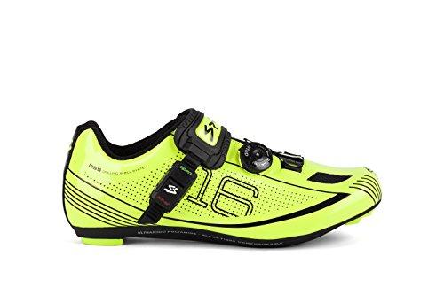 Spiuk 16 Road - Zapatillas unisex, color amarillo / negro, talla 42